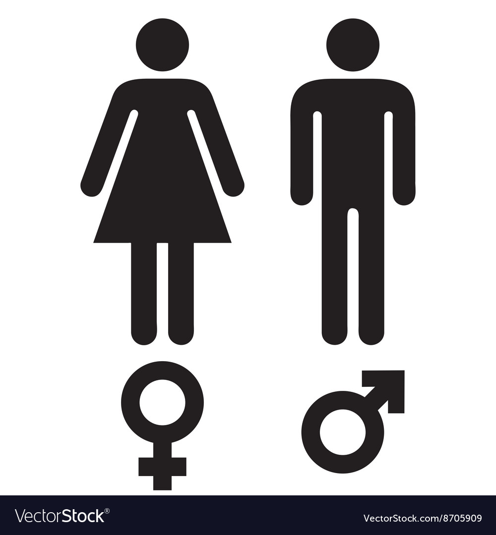 Male Female Symbols Royalty Free Vector Image Vectorstock