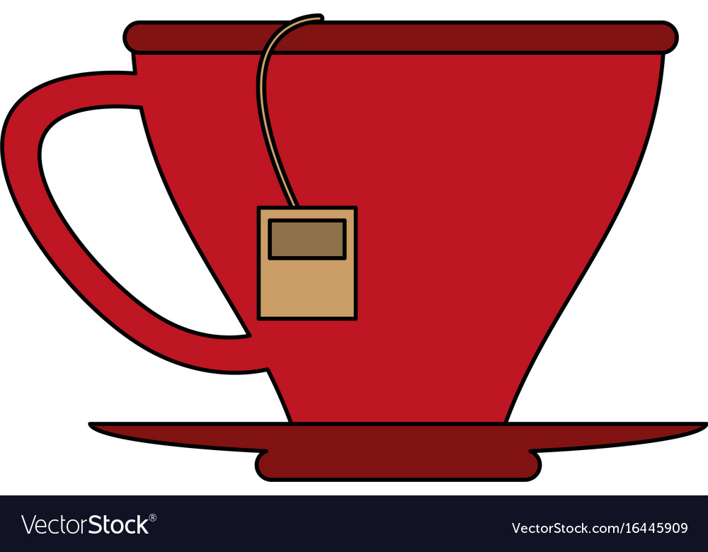 Tea bag in cup icon image