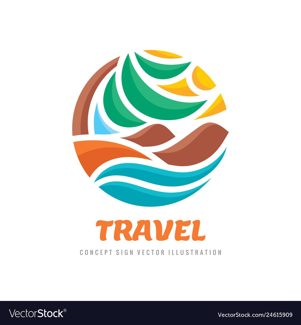 Travel - concept business logo template