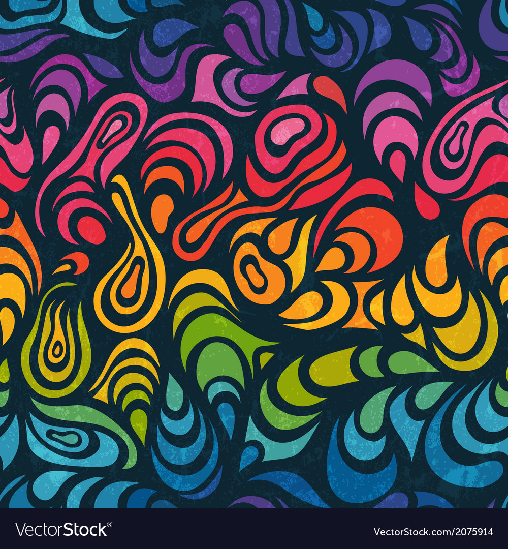 Abstract seamless background in rainbow colors