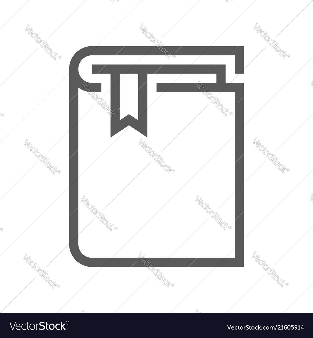 Book flat line icon vector