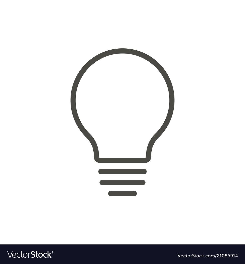 Bulb Light Icon Line Idea Symbol