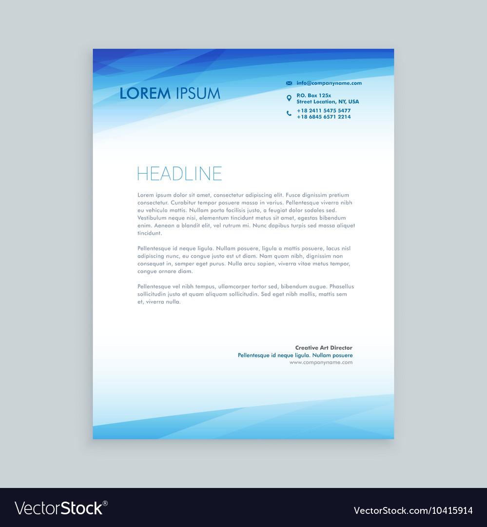 Business letterhead design vector image