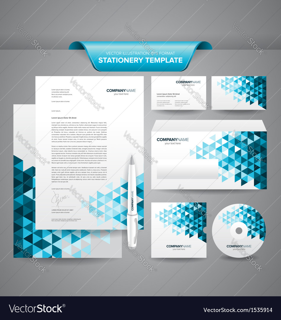 business stationery templates royalty free vector image