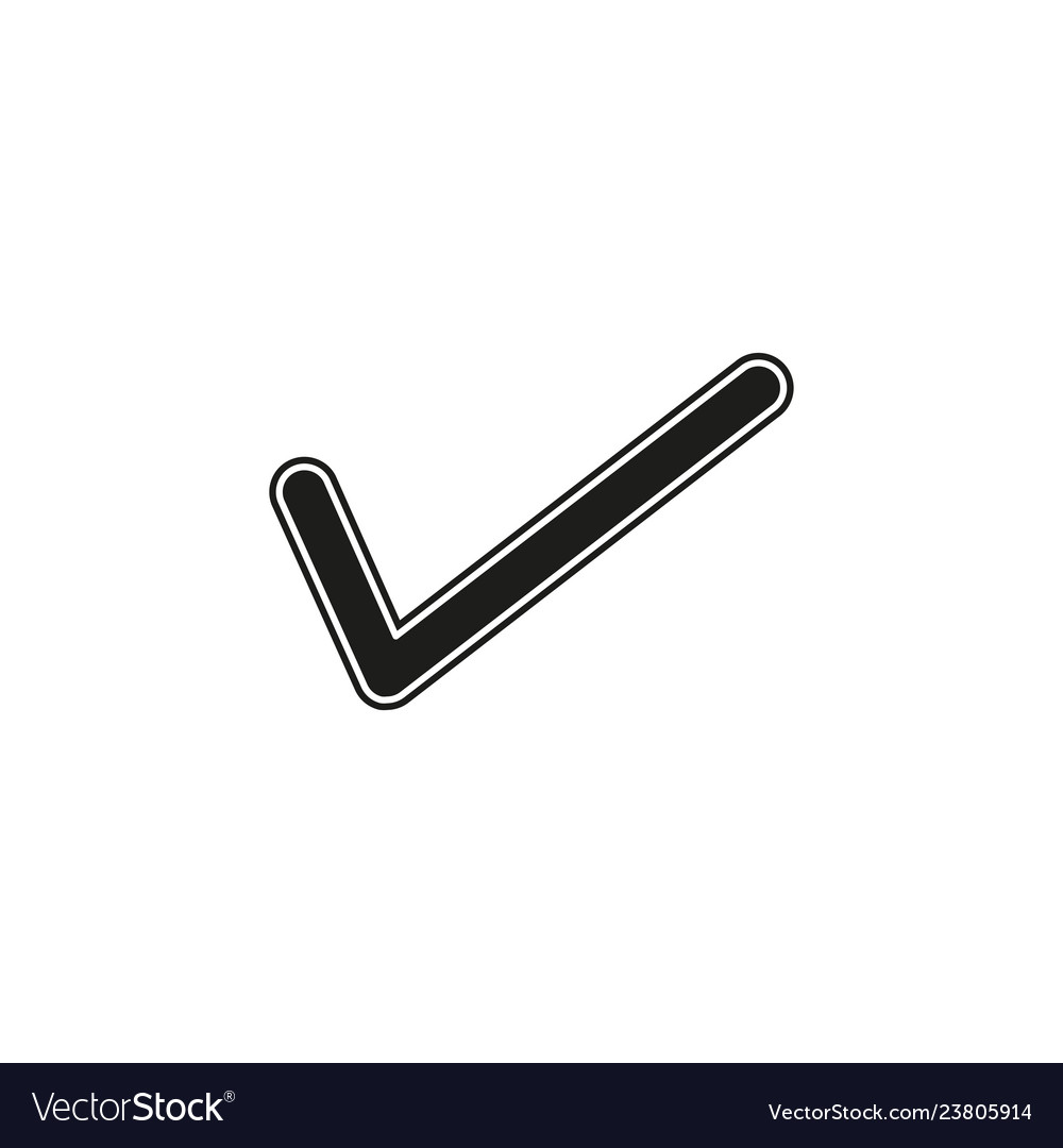Check mark symbol - yes or ok - approved sign