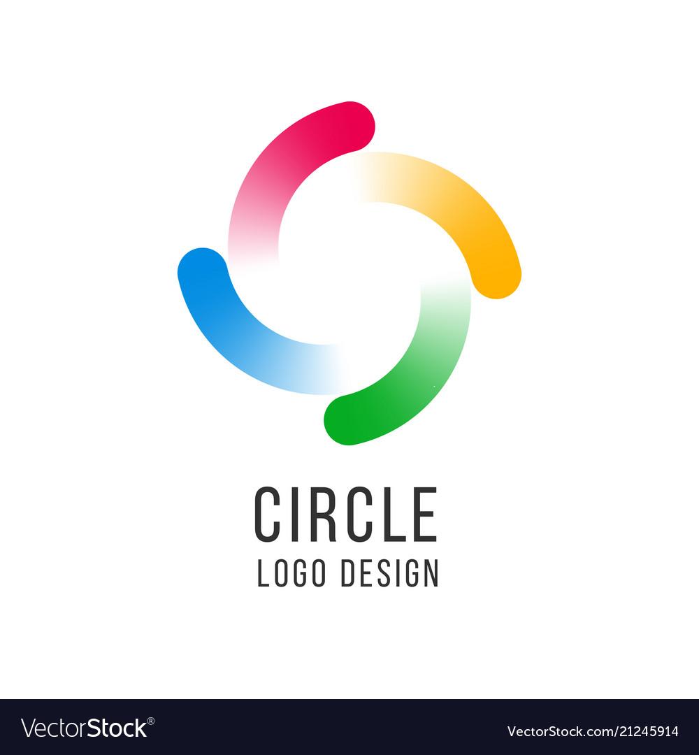 Circle logo circled spiral swirl universal color