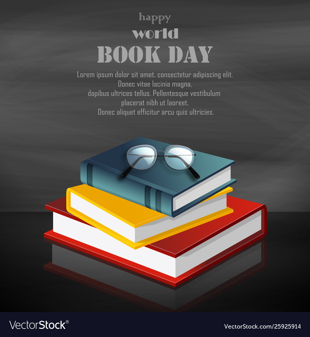 Colorful book for world book day