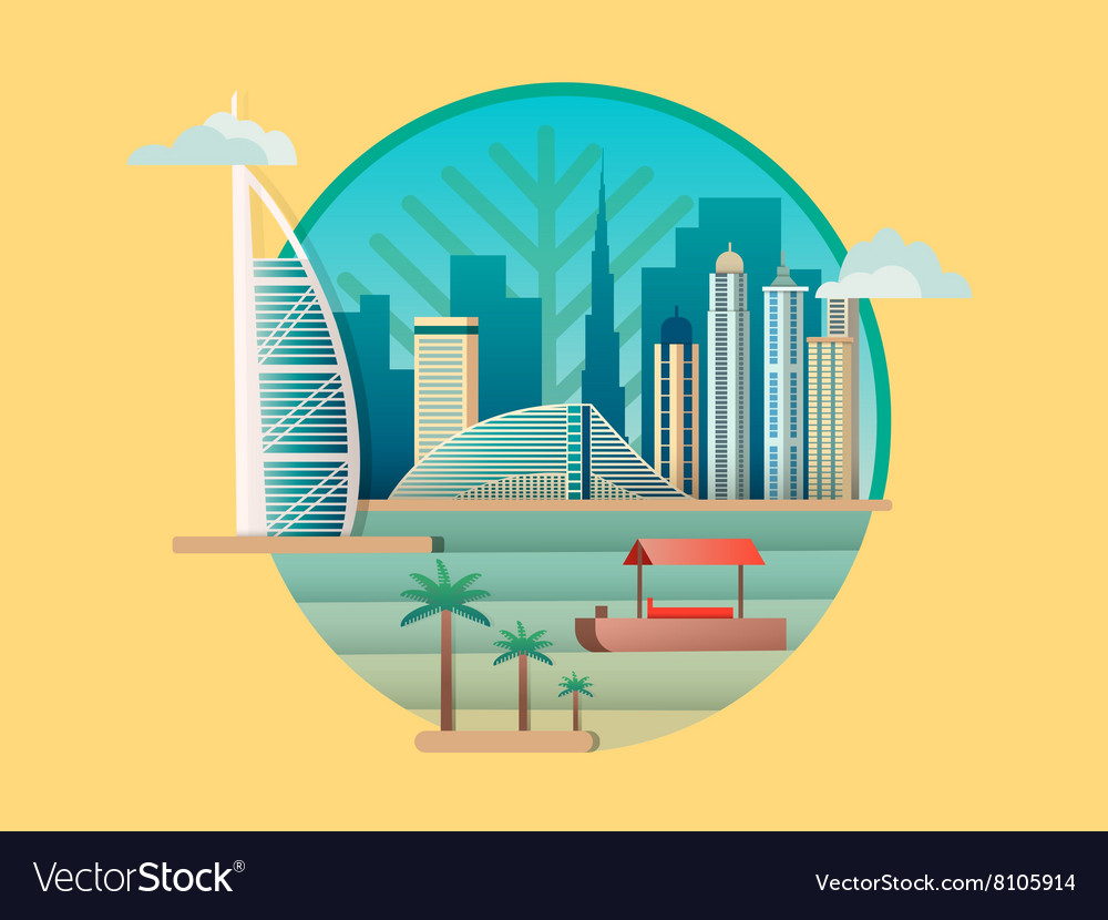 Dubai city building icon
