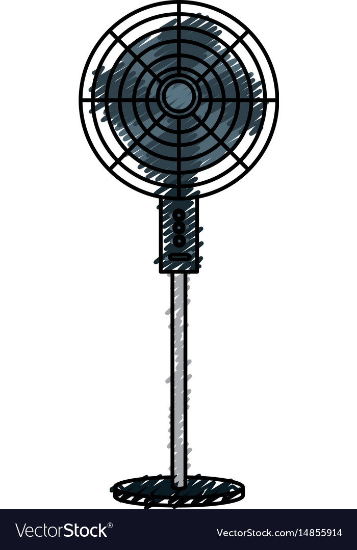 Electric fan isolated icon