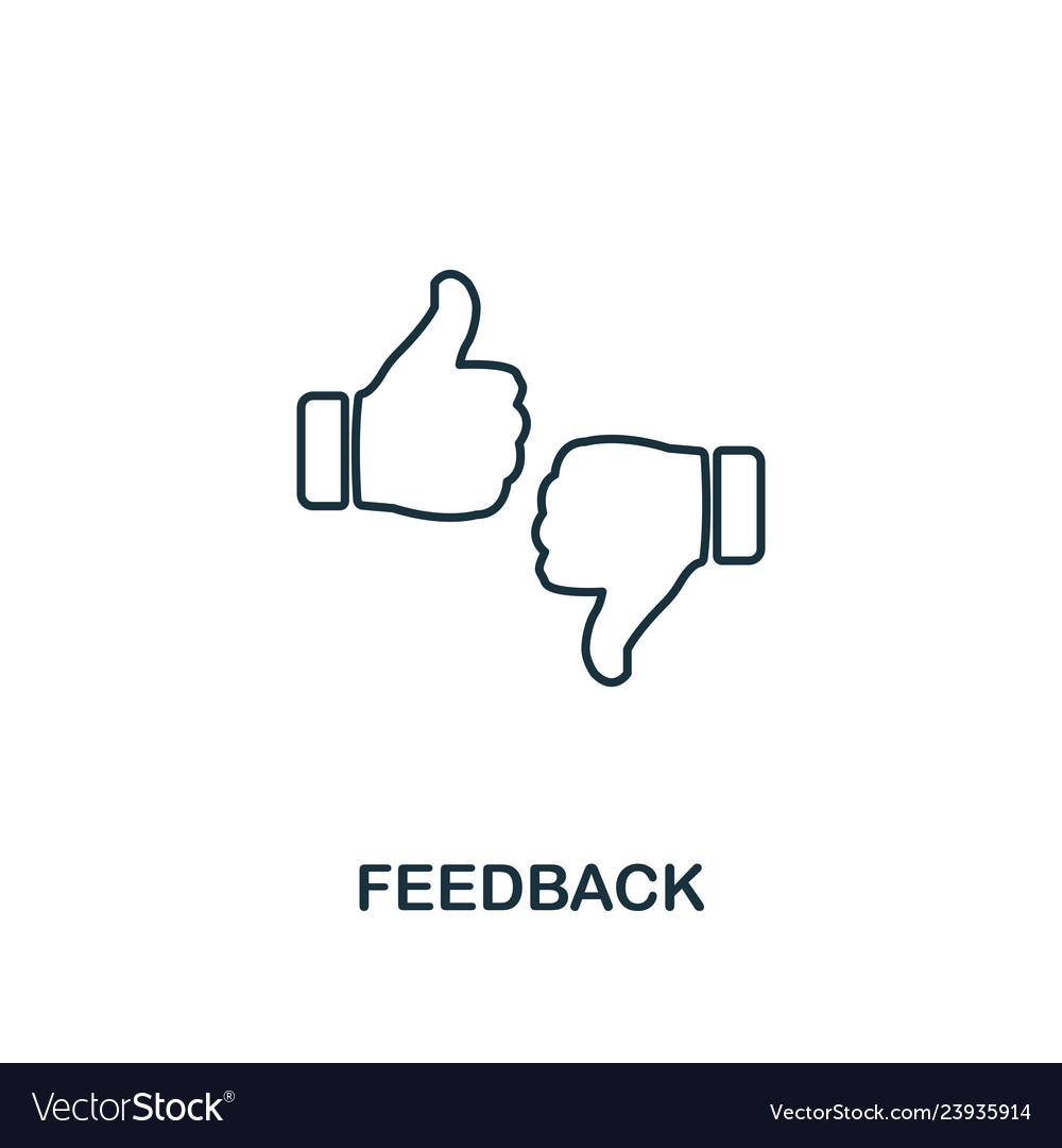 Feedback outline icon thin line element from