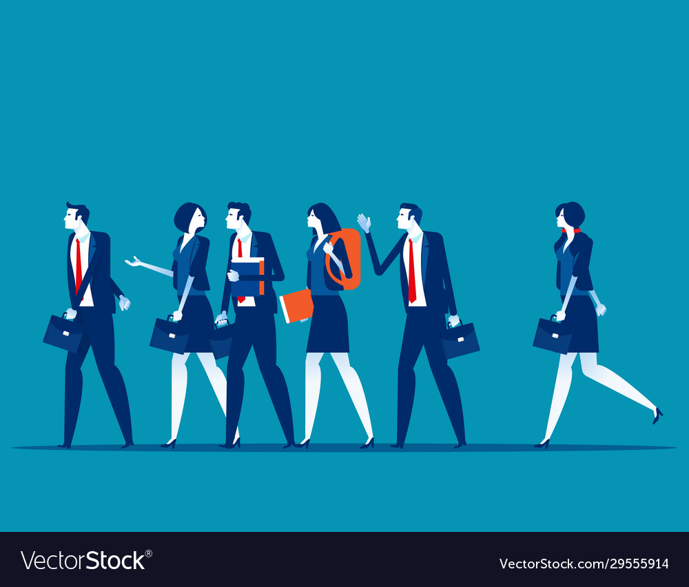 Group business people go to work concept business