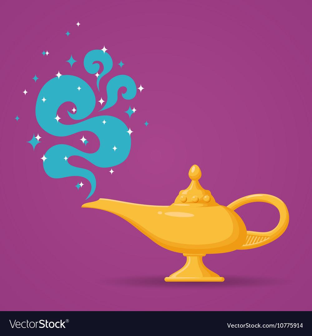 Magic Aladdin lamp vector image