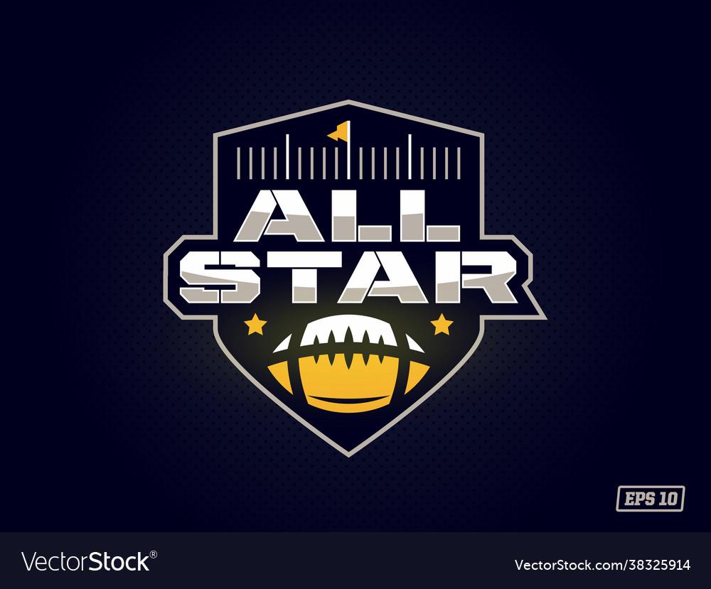 Modern professional emblem all star for american