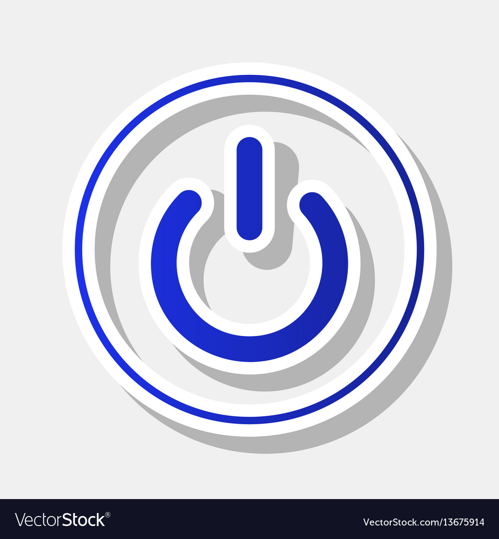 On off switch sign new year bluish icon