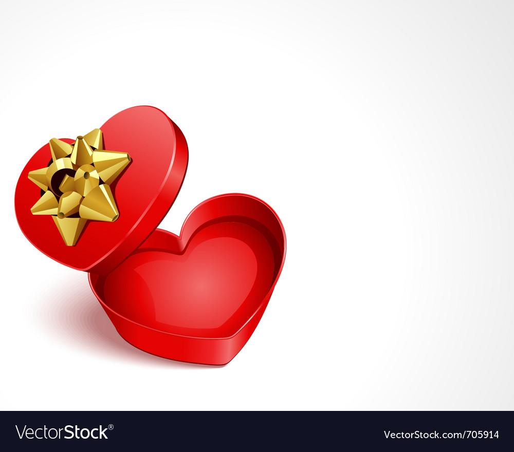 Open gift heart