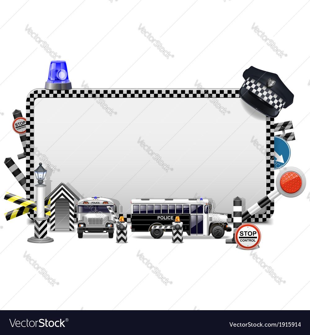 Police Frame Royalty Free Vector Image - VectorStock
