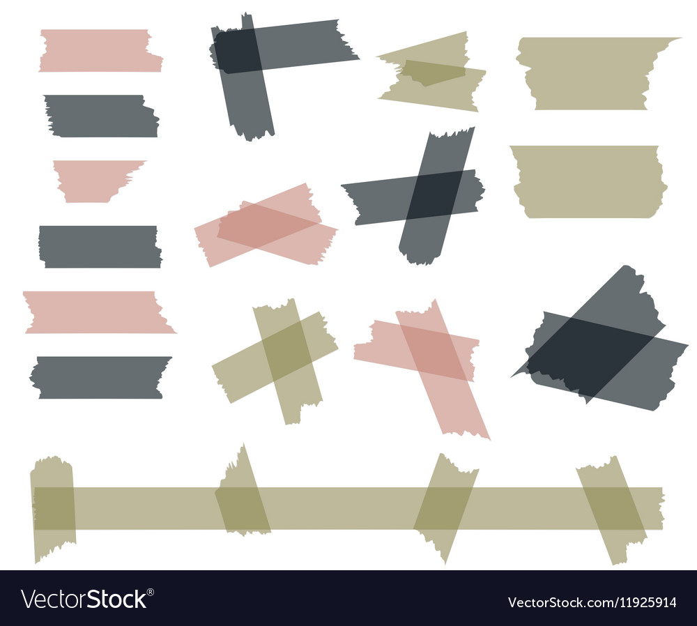 Scotch adhesive tape pieces isolated on white