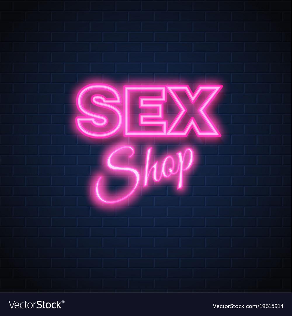Sex shop neon sign vintage signage