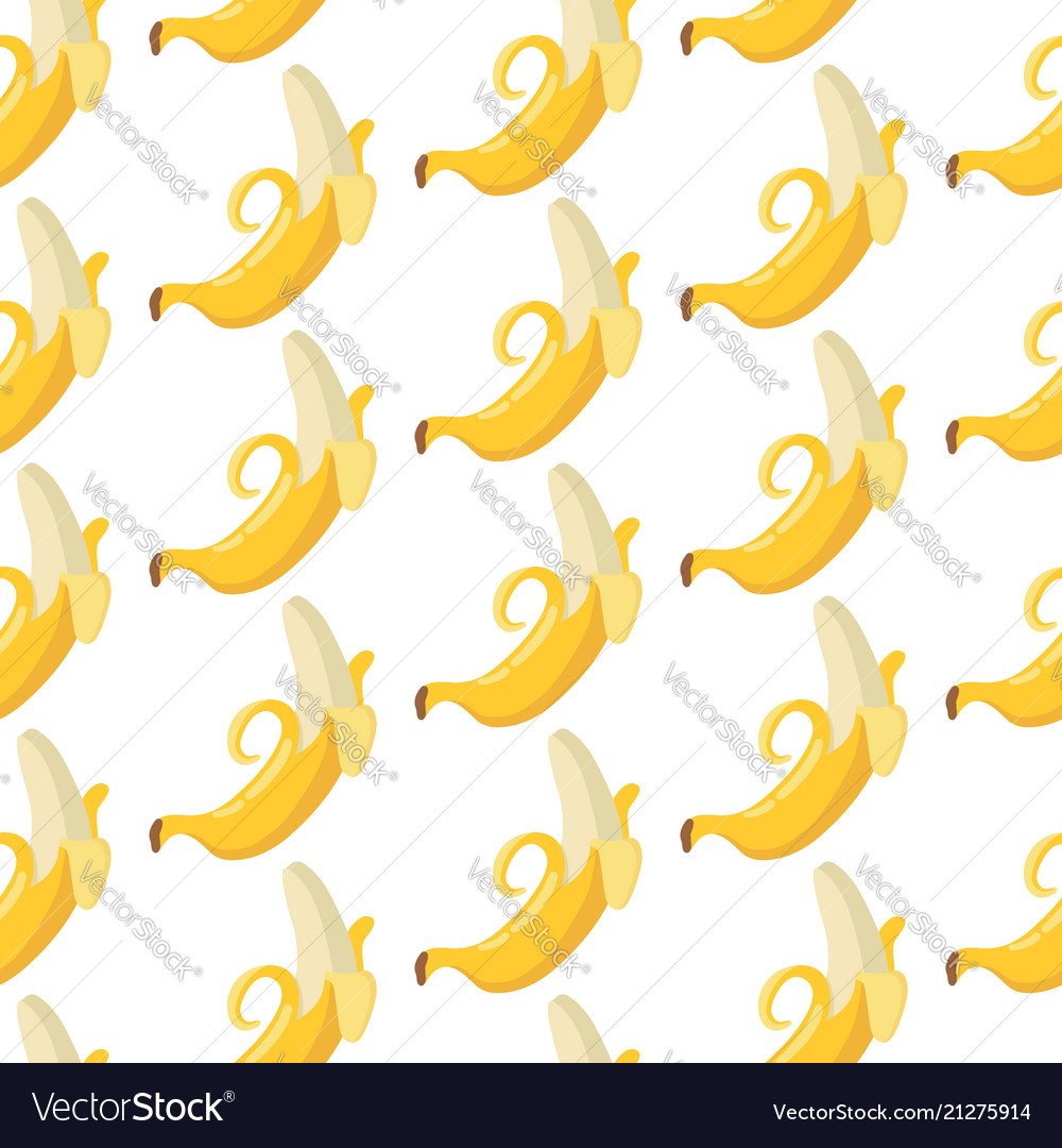 Summer exotic pattern with yellow bananas