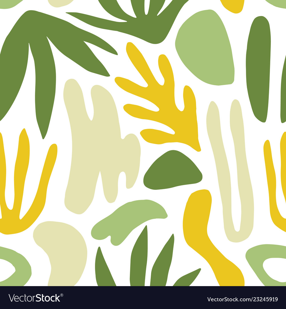 Abstract seamless pattern with green shapes