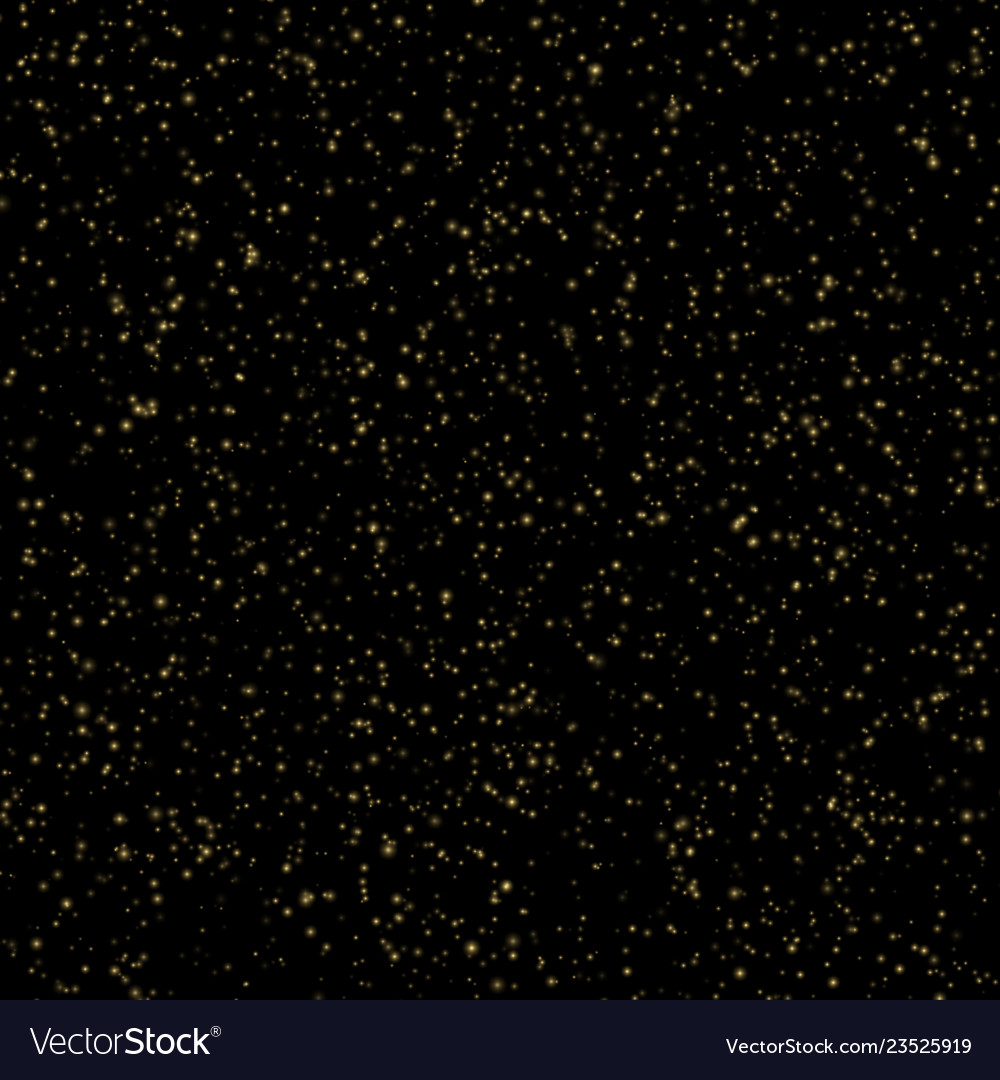Backlit gold dust particles abstract background