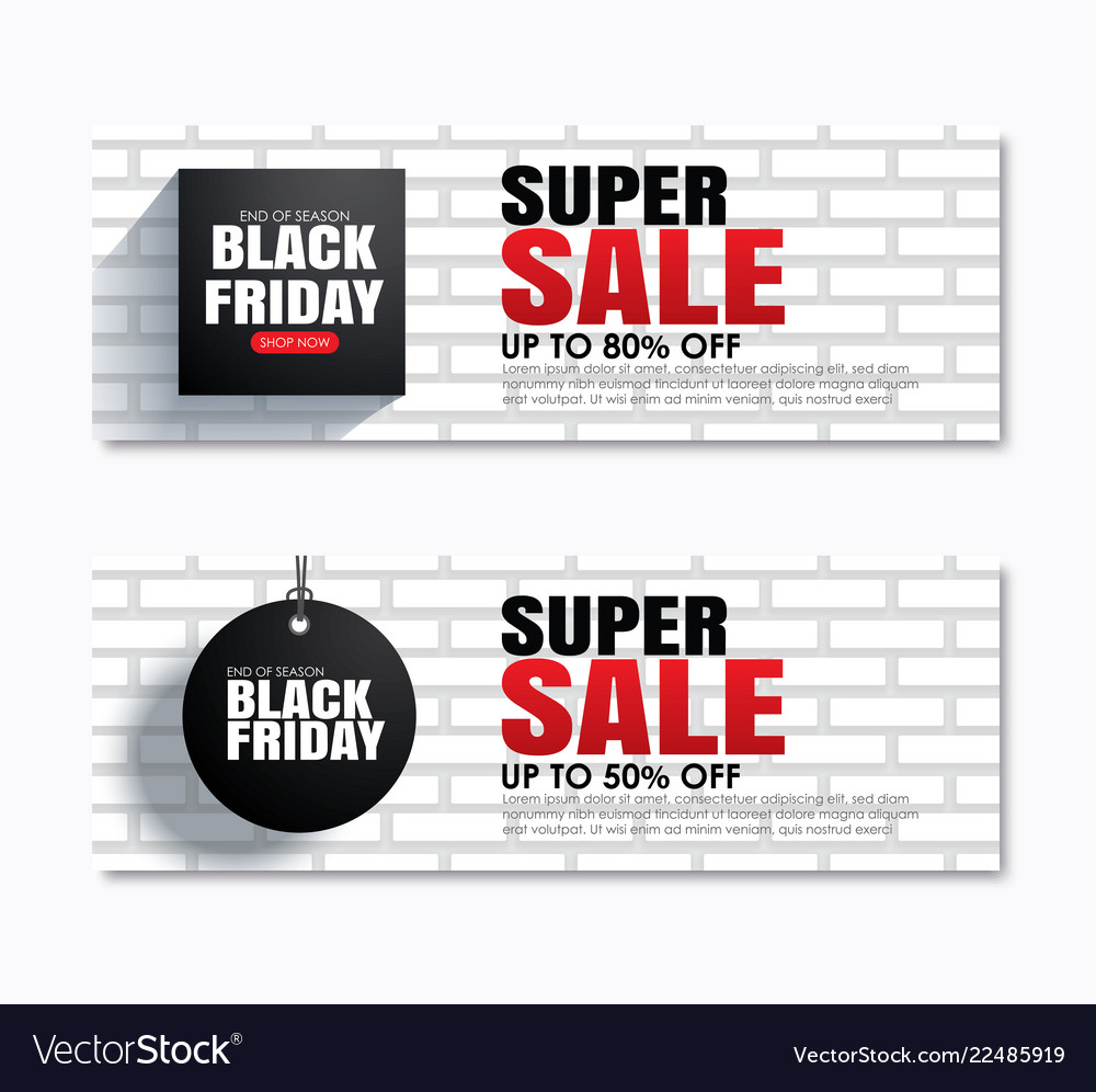 Black friday super sale shopping tag cover and