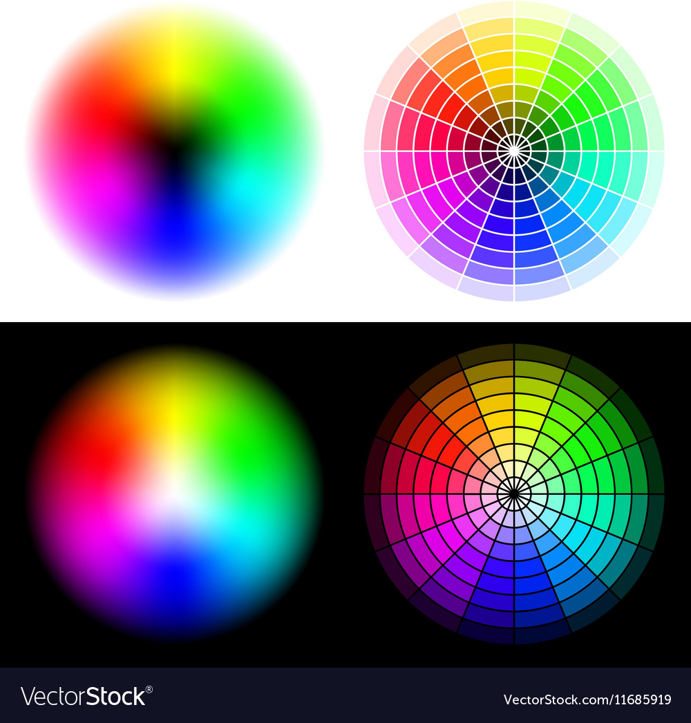 Hsv color wheels