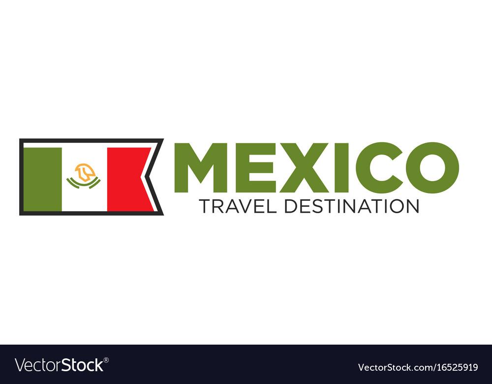 Mexico travel destination banner vector image