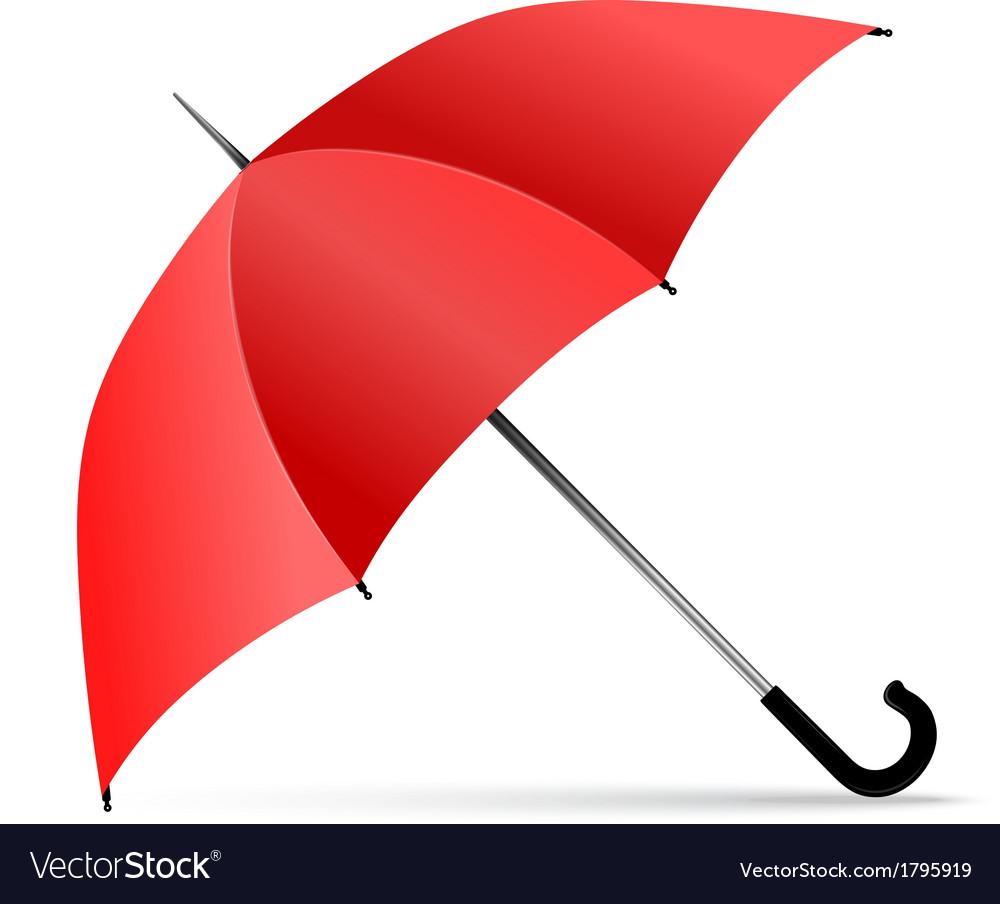 red umbrella royalty free vector image vectorstock rh vectorstock com umbrella vector free download umbrella vector tutorial