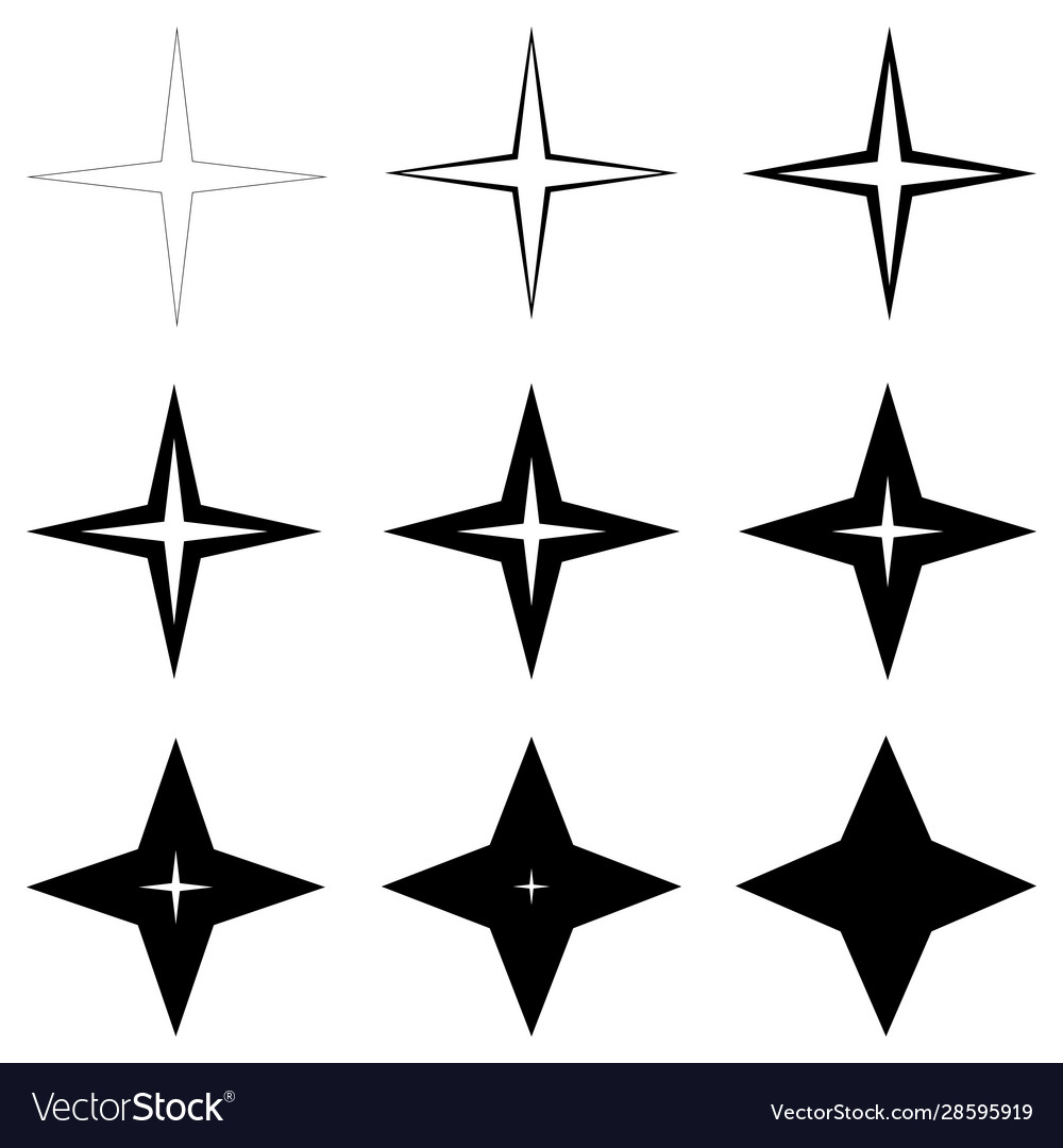 Set stars with different thickness outline