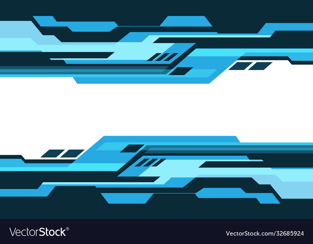 Abstract blue tone geometric cyber circuit white