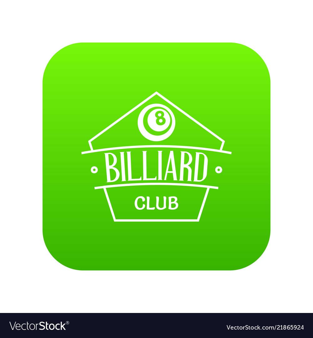 Billiard icon green