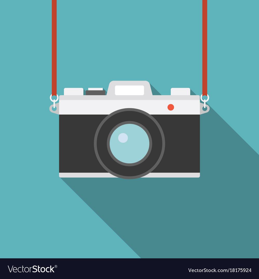 Camera icon flat design