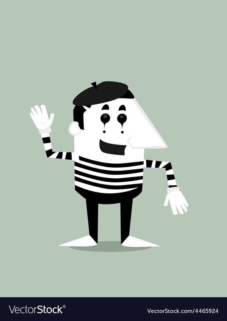cartoon mime royalty free vector image vectorstock