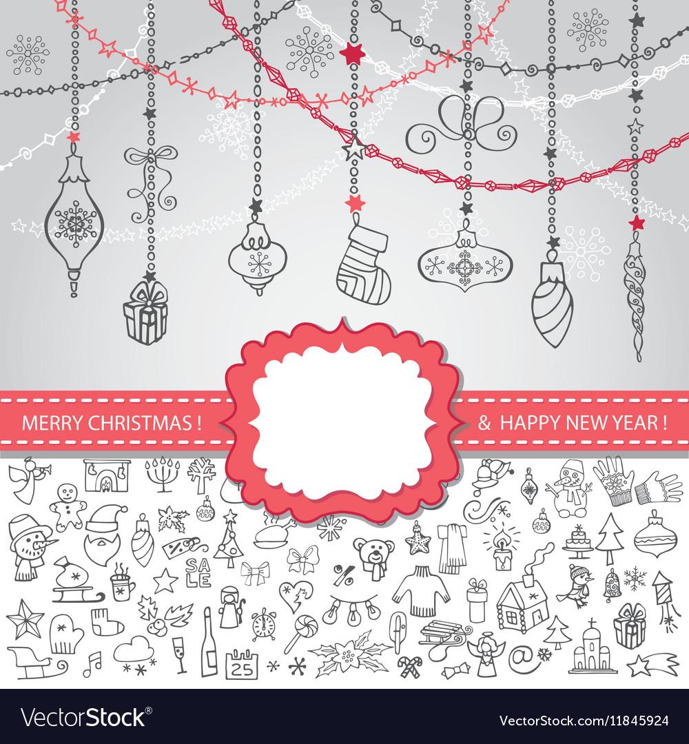 Christmas templateIconslabelballs