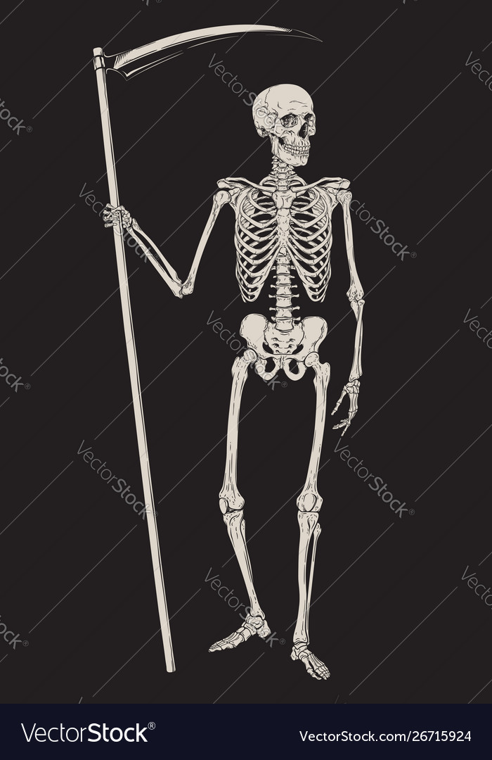 Grim reaper with scythe