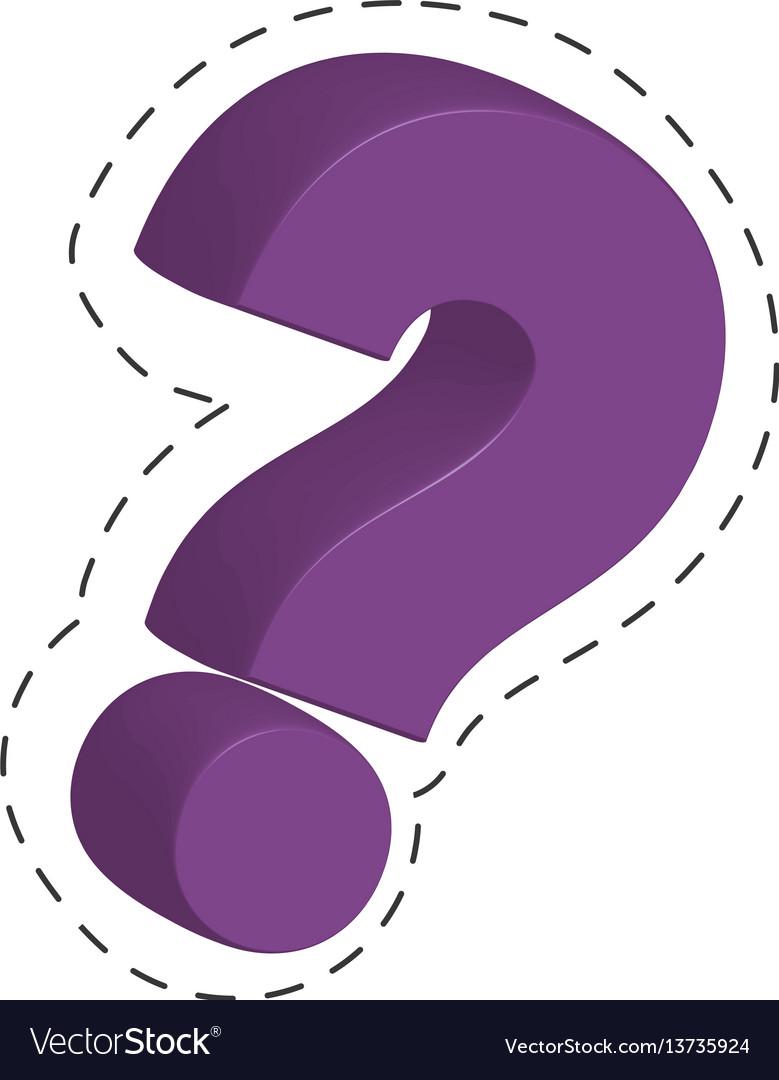 Purple question mark image
