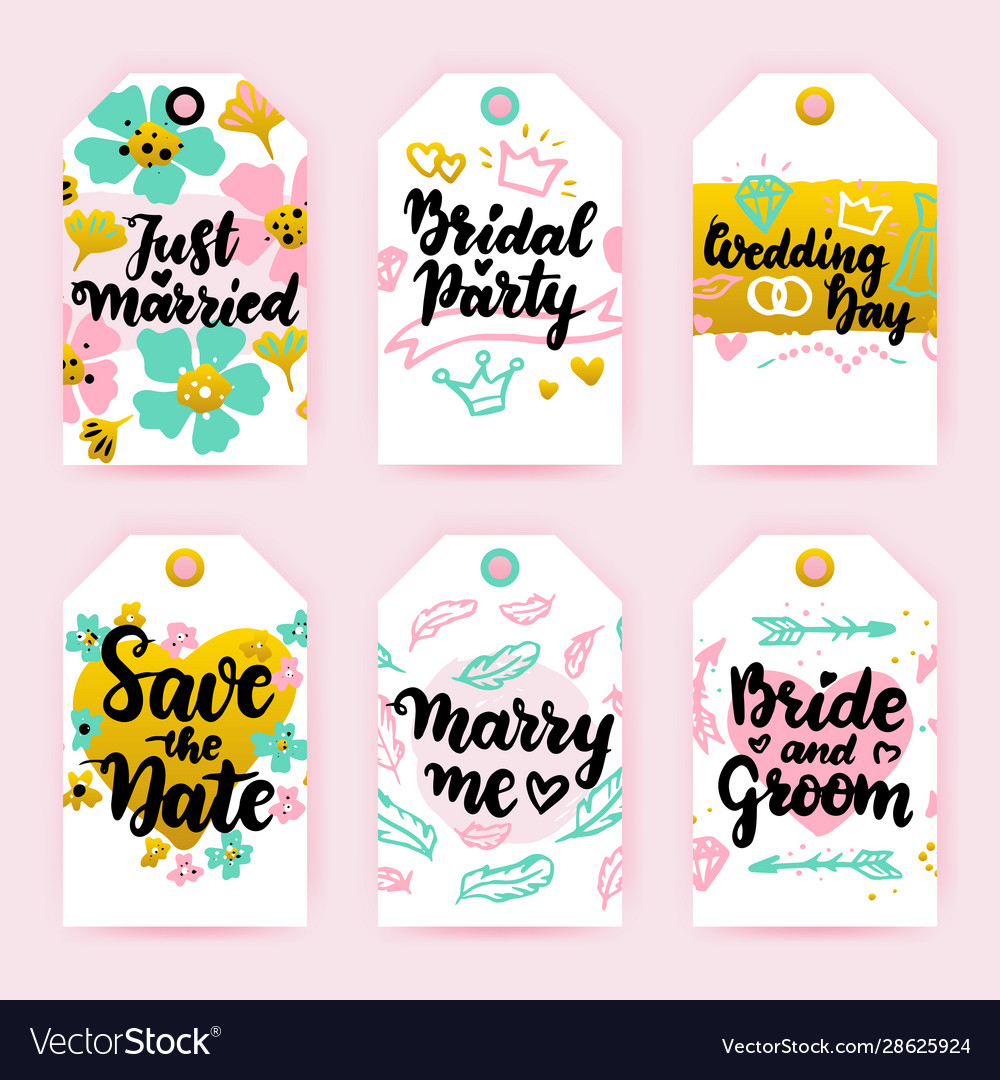 Save date greeting gift labels
