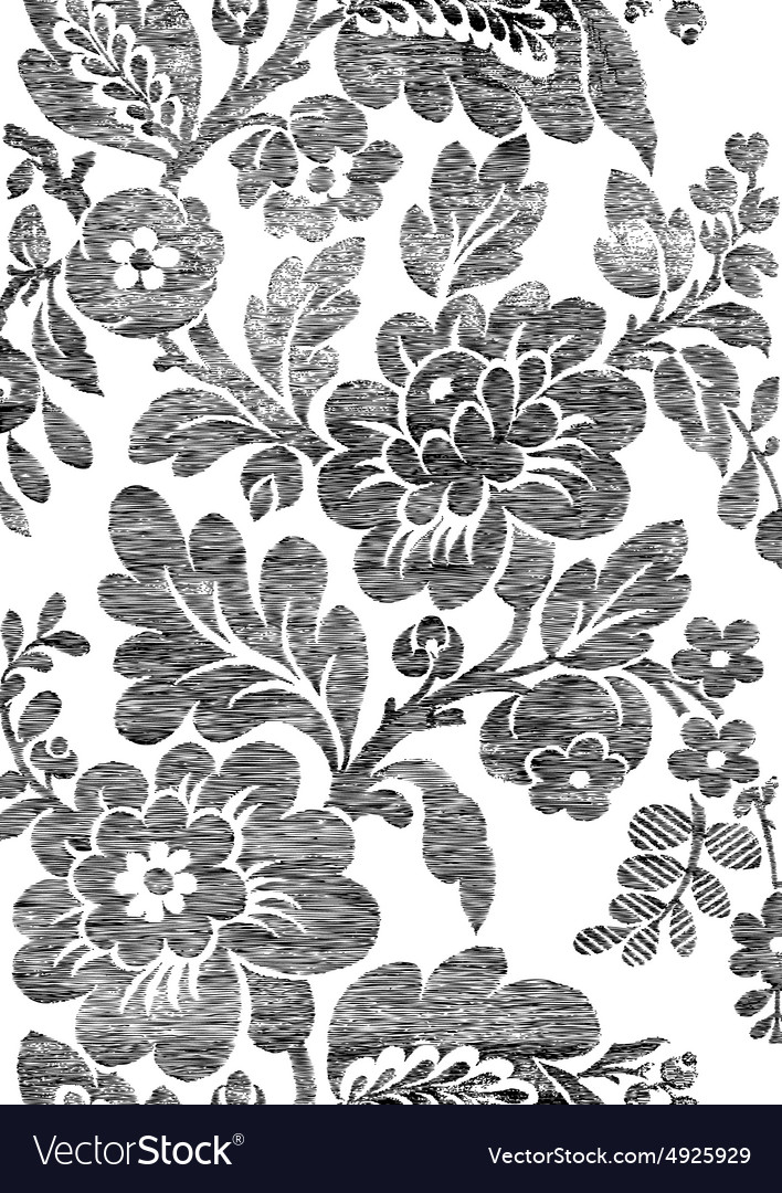 1 Abstract hand-drawn floral seamless pattern