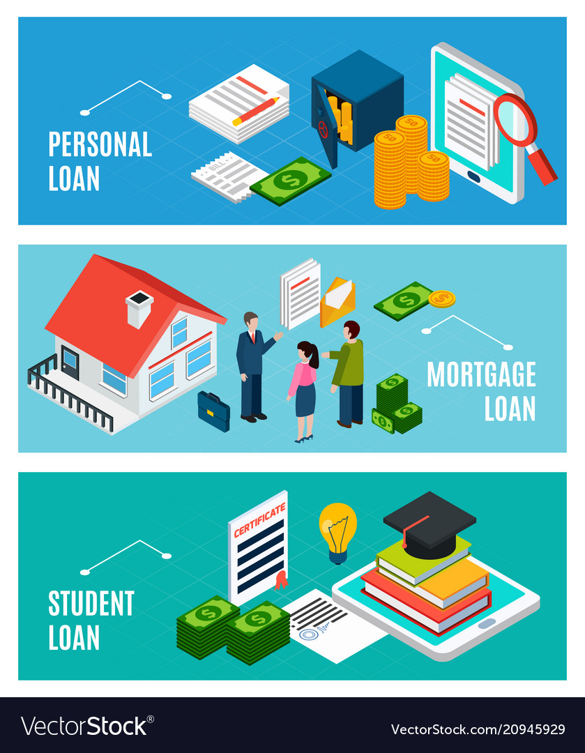 Loans for everyone banners vector image