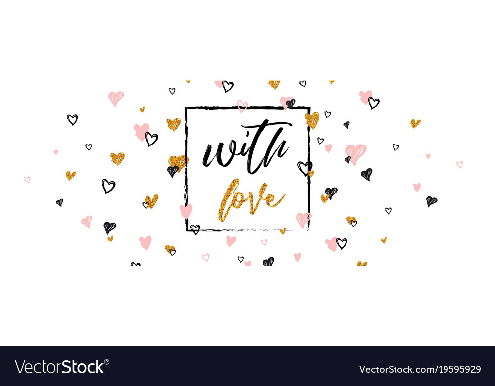 Romantic lettering banner for valentines day