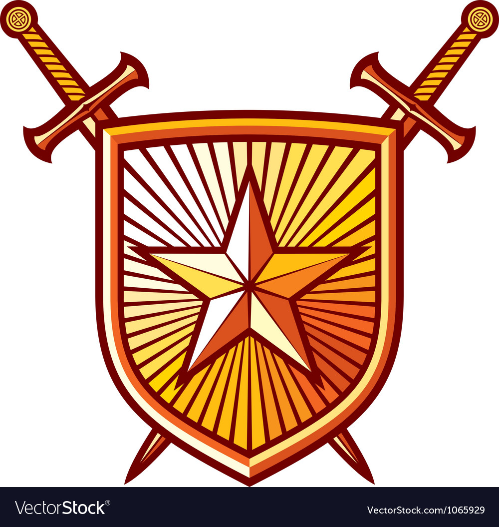 Star shield with crossed swords