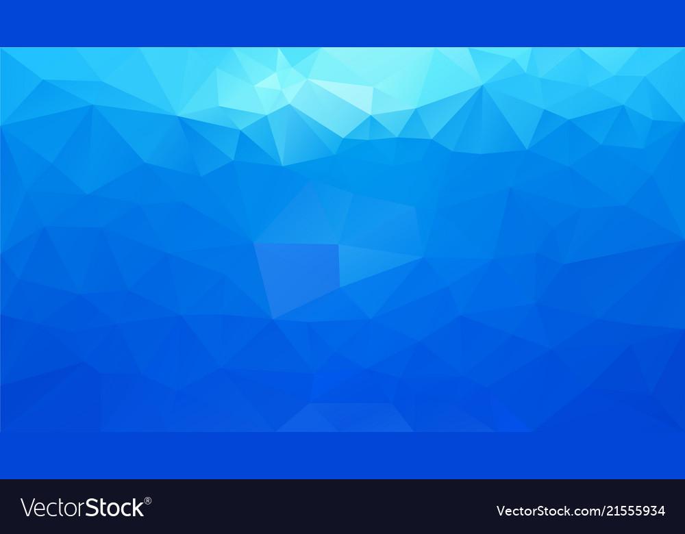 Abstract irregular polygonal background sky blue