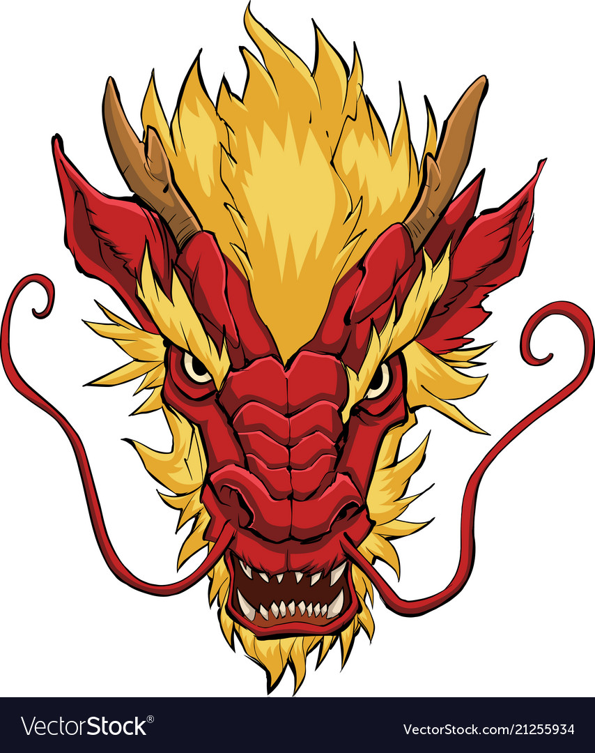 Chinese dragon head red