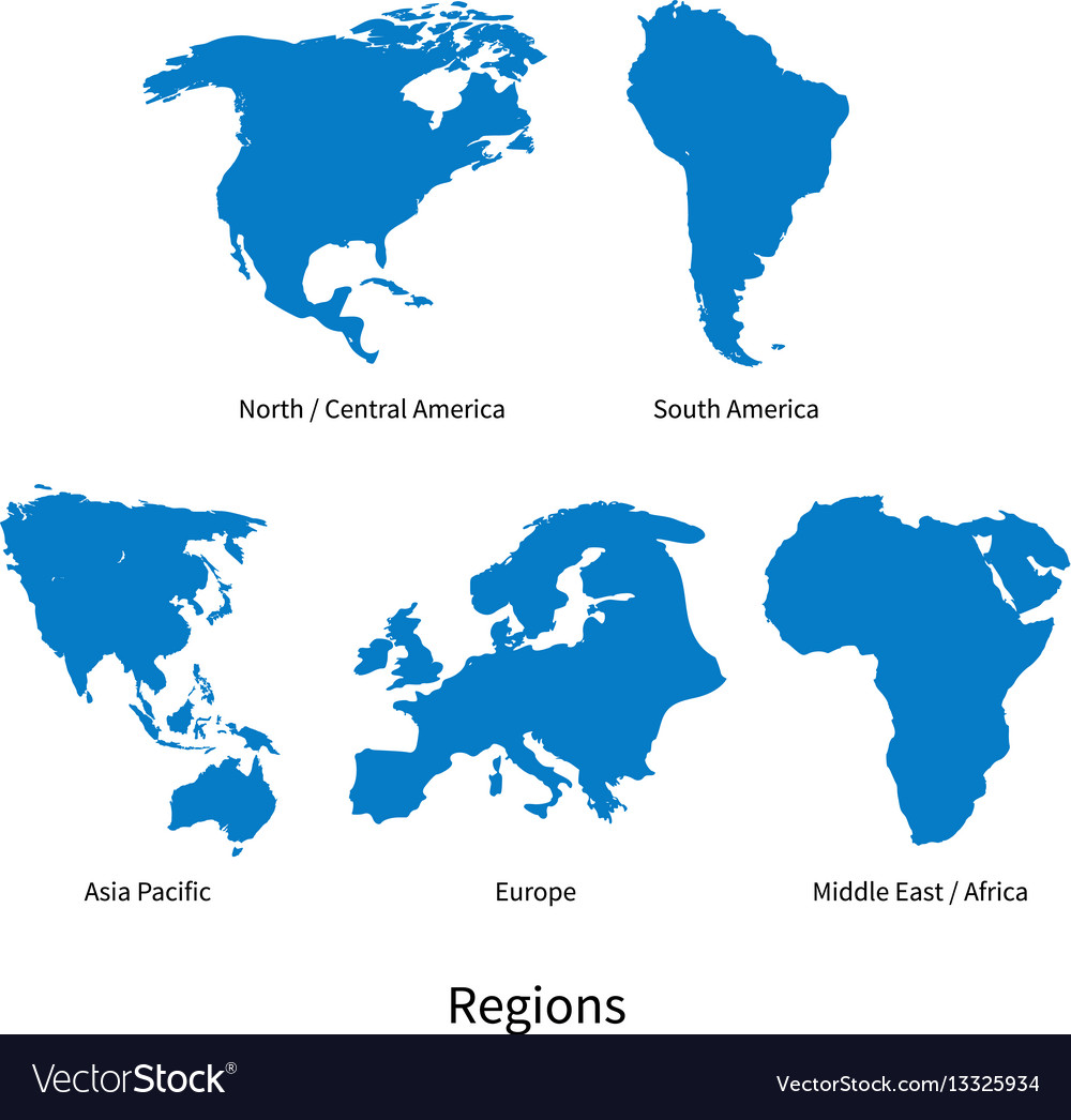 Detailed map of north - central america Royalty Free Vector