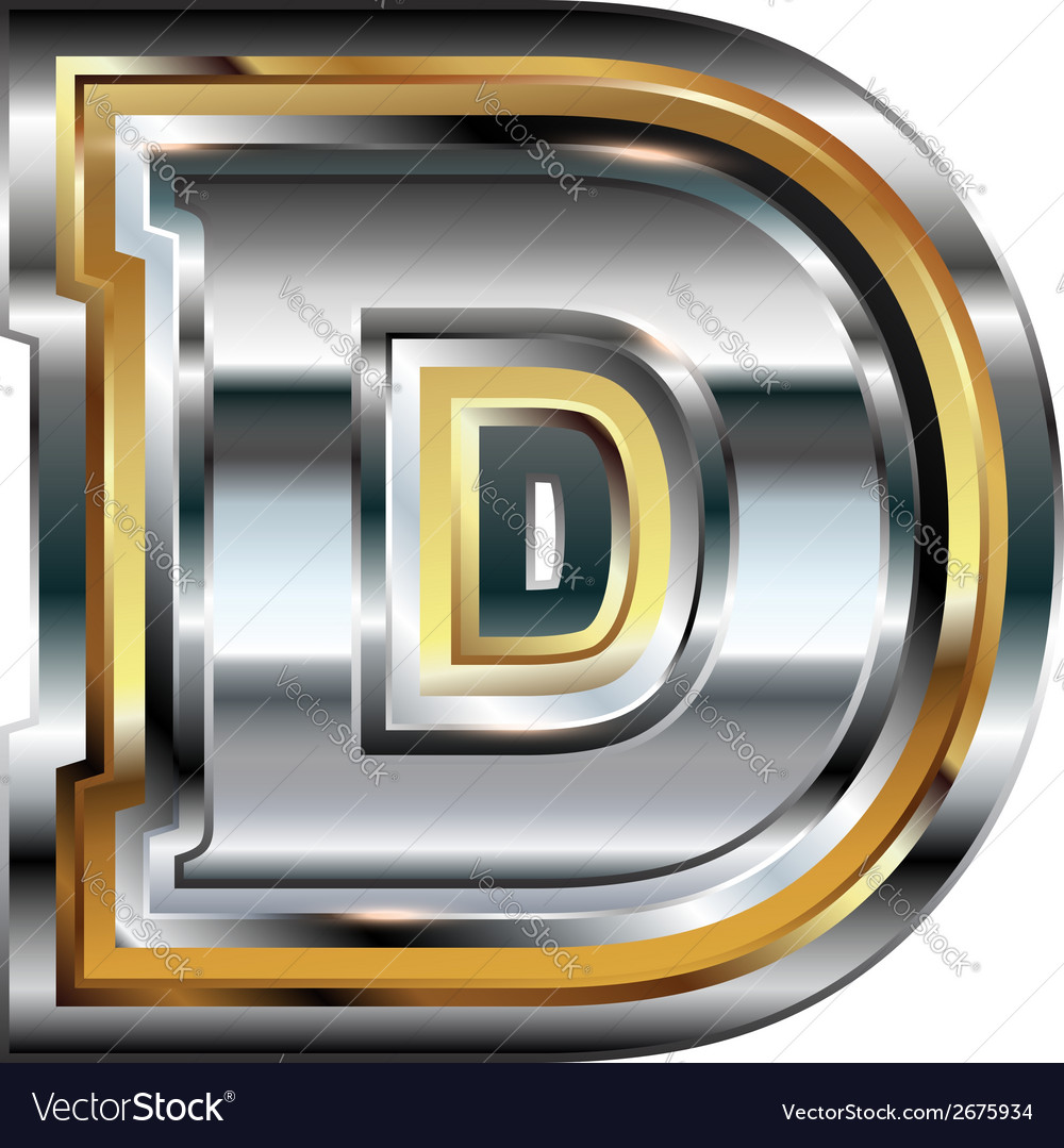 Fancy font letter d royalty free vector image vectorstock fancy font letter d vector image altavistaventures Image collections