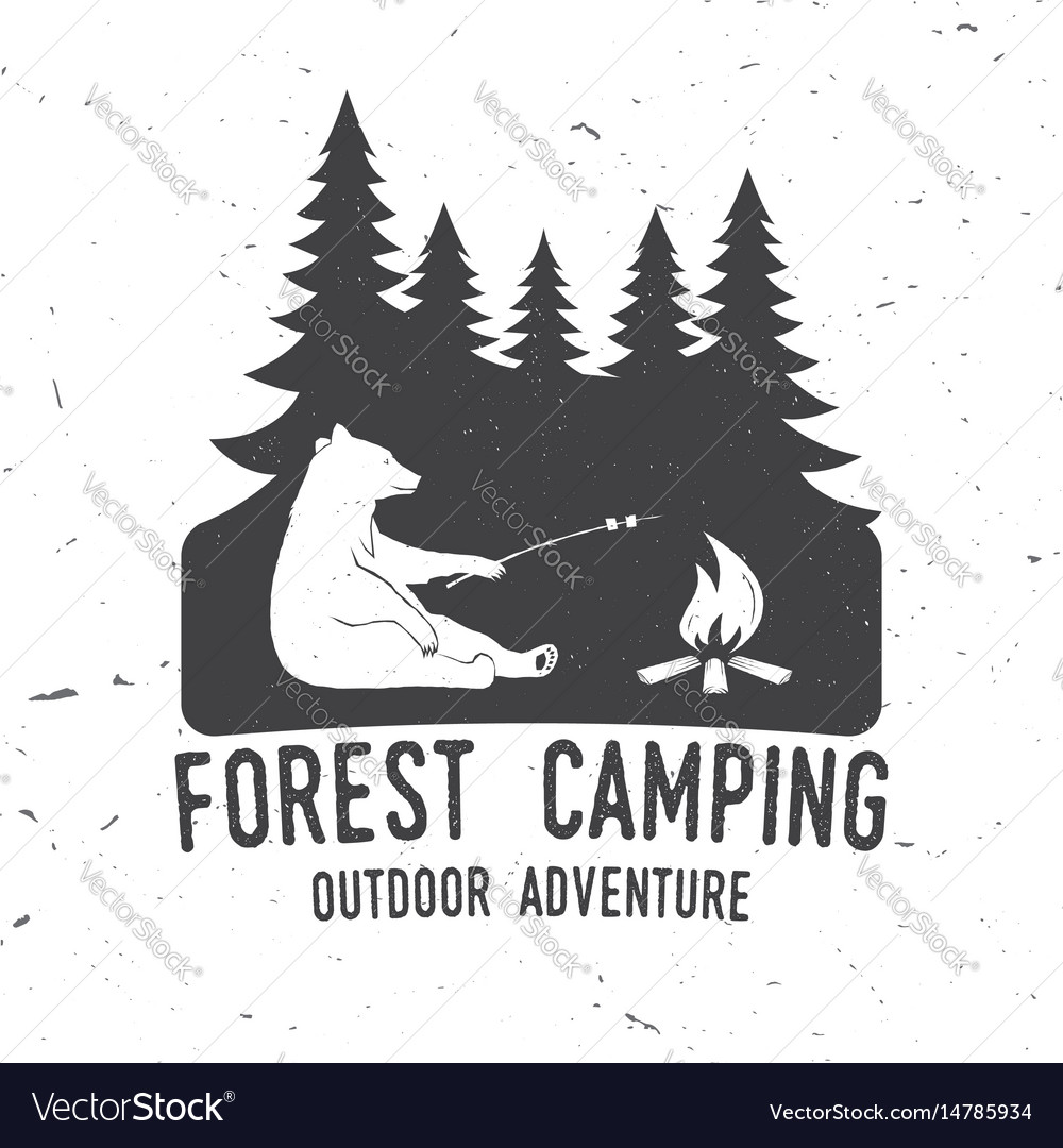Forest camping extreme adventure