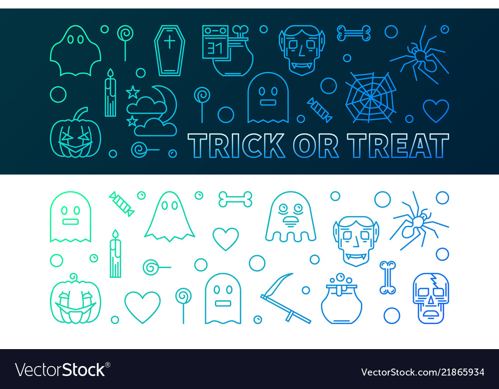 Halloween colorful banners 31 oct holiday