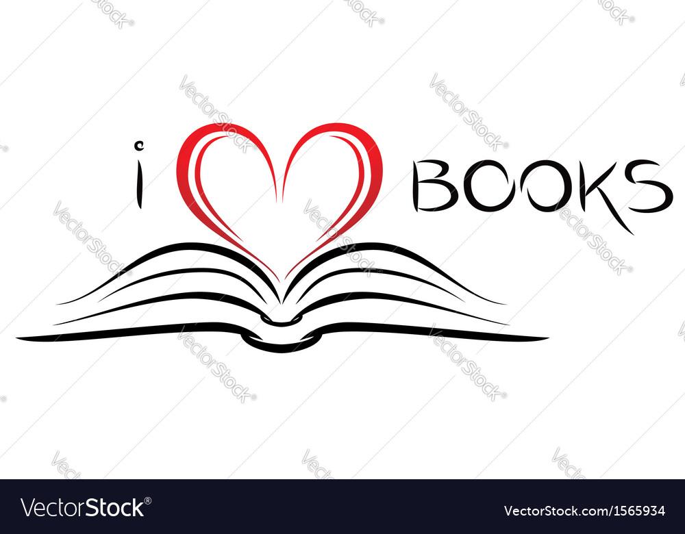 Download I love books Royalty Free Vector Image - VectorStock