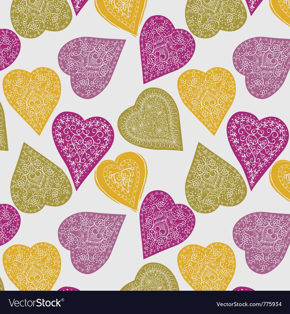 Love hearts wallpaper vector image